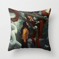The Old Fox Throw Pillow