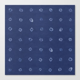 Shibori dots Canvas Print