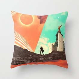 Leaving the Void Throw Pillow
