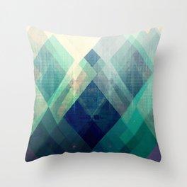 Mountains print, Abstract print, geometric wall art, abstract mountain, minimalist art, modern art, Throw Pillow