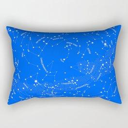 Constellation Map - Blue Rectangular Pillow
