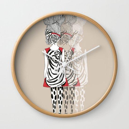 Butterfly Girl Wall Clock