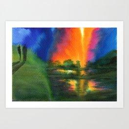 Witnesses Art Print