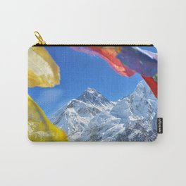 Summit of mount Everest or Chomolungma - highest mountain in the world, view from Kala Patthar,Nepal Carry-All Pouch