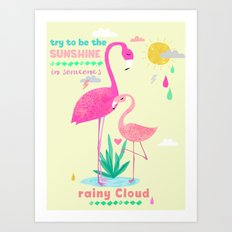 Be the sunshine Art Print