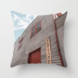 An old antique shop in Ellicott City, Maryland Throw Pillow