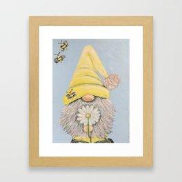 Bee-Gnomie Framed Art Print