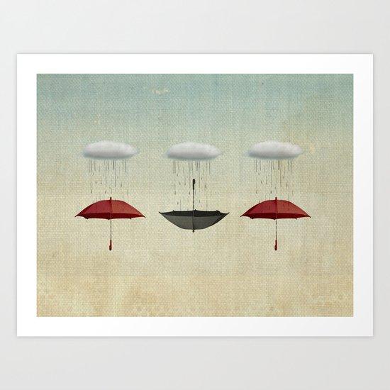 the umbrella filleth Art Print