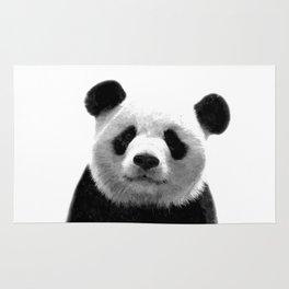 Black and white panda portrait Rug