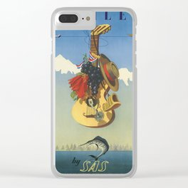 Vintage poster - Chile Clear iPhone Case