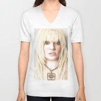 britney V-neck T-shirts featuring Britney by LeonieMV