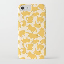 Yellow Cats Pattern iPhone Case