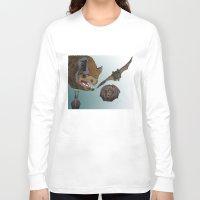 bats Long Sleeve T-shirts featuring Bats by Akira Hikawa