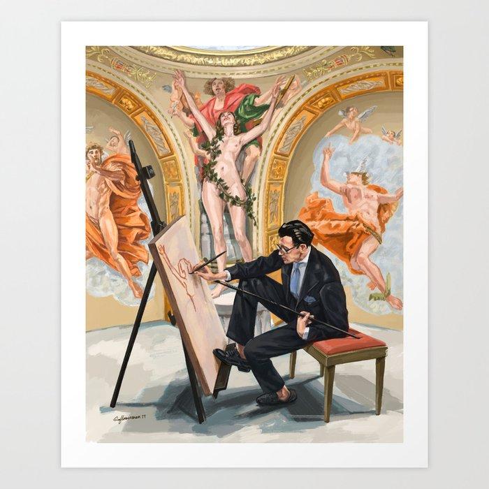 The Artist with Liverano & Liverano Styling Art Print