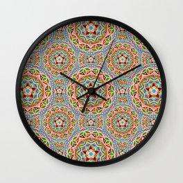Fiesta Mandala Wall Clock