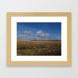 Cornish Field Framed Art Print