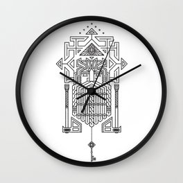 King under the mountain Wall Clock