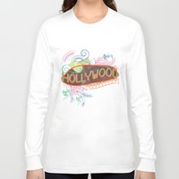 decorative Long Sleeve T-shirts featuring Decorative Typographic by famenxt