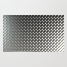 Dirty checkered steel plate Rug