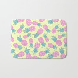 Pink pastel pineapple Bath Mat