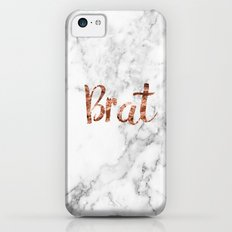 Rose gold marble - brat iPhone 5c Slim Case