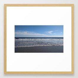Waves on Kennebunk beach Framed Art Print