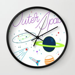 Outer Space! Wall Clock