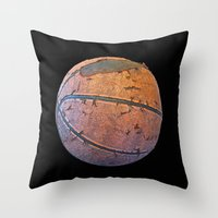 basketball Throw Pillows featuring Basketball by gbcimages