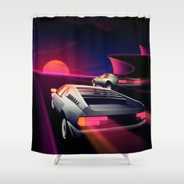 Cliffside Racers Shower Curtain