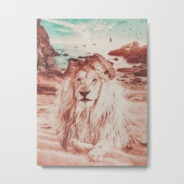 Lion Portrait Tas Metal Print