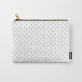 Dots (Silver/White) Carry-All Pouch
