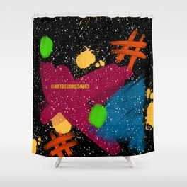 The Playground Abstract Shower Curtain