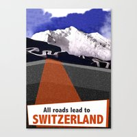 switzerland Canvas Prints featuring Switzerland by TheGretest