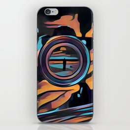 Eye of glass iPhone Skin