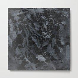 White Ink on Black Background #5 Metal Print