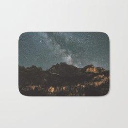 Space Night Mountains - Landscape Photography Bath Mat