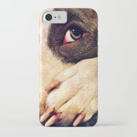 pitbull iPhone & iPod Cases featuring Pitbull profile by LeeAnnPoling
