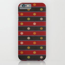 Black And Red Kilim iPhone Case