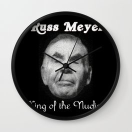 Russ Meyer Tribute Poster Wall Clock