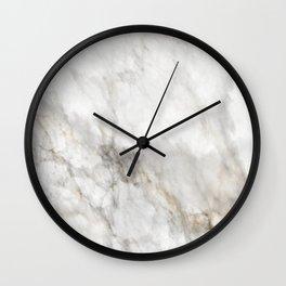 Light Marble Wall Clock