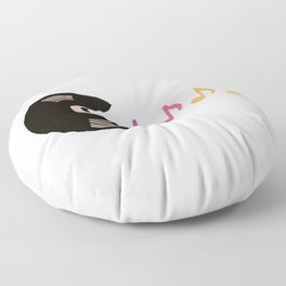 Hungry For Music  Floor Pillow