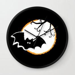 Bat and Moon Wall Clock