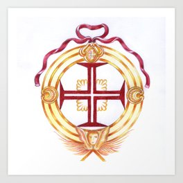 Templar cross. Cruz Templária Art Print