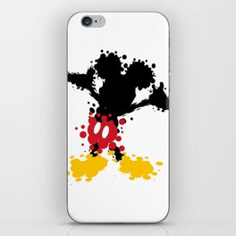 Mickey Mouse Paint Splat Magic iPhone Skin