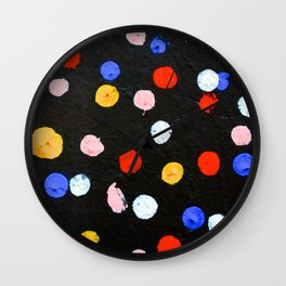 Graffiti Dots Wall Clock