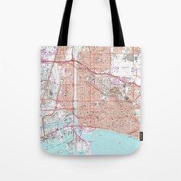 Vintage Map of Long Beach California (1964) Tote Bag