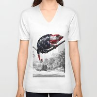central park V-neck T-shirts featuring Central Park, NY by DistinctyDesign