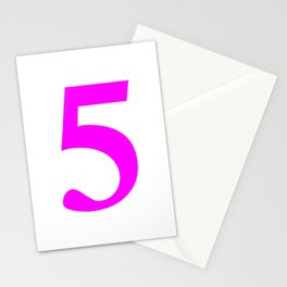 5 (FUCHSIA & WHITE NUMBERS) Stationery Cards