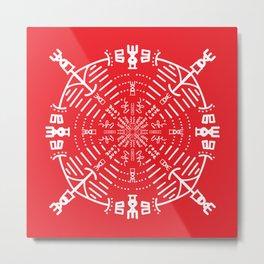 Yoga energy tribe  Metal Print