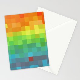 Pixel Rainbow Stationery Cards